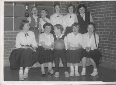 Snider's Public School Girls Basketball Team, 1956-57.
