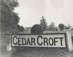 Cedar Croft Sign, 1965.