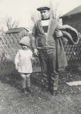 Isobel Ford and Her Father, Robert, on the Ford Farm.