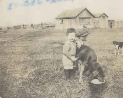 Isobel & Hank Ford With Two Collies