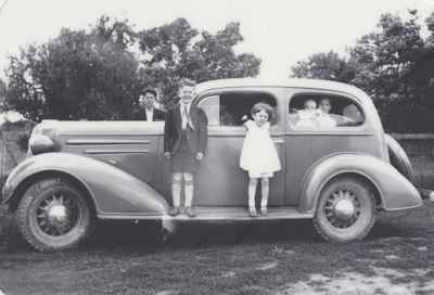 The Ford Children With New Family Car