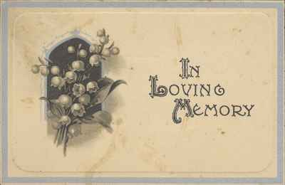 Funeral Card For Wm. T. Giles
