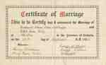 Marriage Certificate for Eckhardt and Ethel Wettlaufer
