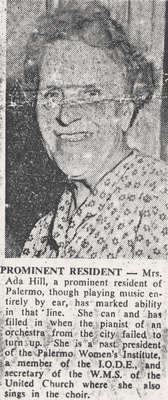 Mrs. Ada Hill