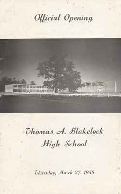 Official Opening of Thomas A. Blakelock High School.