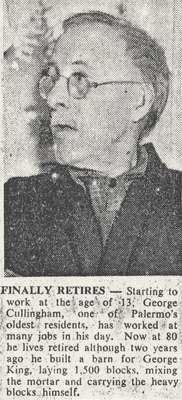 George Cullingham Retires