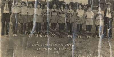 Oakville Ladies Softball Team 1934
