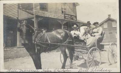 W.J. Chisholm and Family At the Hornby General Store