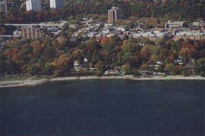 Aerial View of Oakville Shoreline