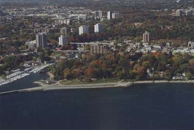 Aerial View of Oakville Shoreline