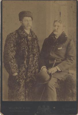 James W. McCraney in Fur Coat, 1834 - 1916