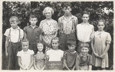 S.S. #11 School, Sheridan, 1942