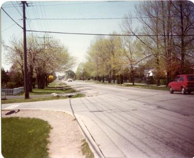 Looking North on Third line, May 17 1980
