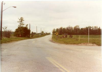 Looking North on 3rd Line at Upper Middle Rd June 1, 1983