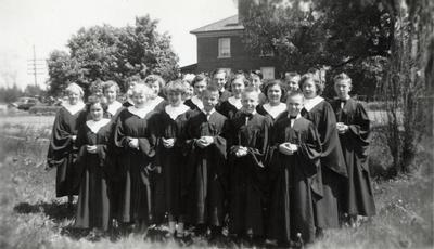 First Choir At Hornby United Church 1948-49