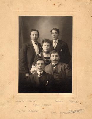 Moreley Stout, With Adelaide, Howard, Leslie, and Will Bradley.