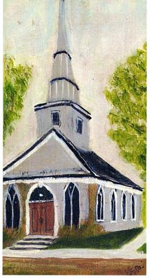 Oil Painting of St. Andrew's Church