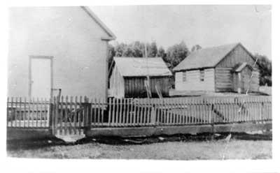 Old Log School, Livingston Creek, 1885