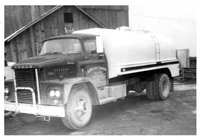 Algoma Co-op Transport Bulk Milk Truck, Circa 1959