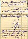 Receipt from Jones General Store, 1964