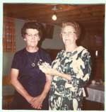 Irma (Papineau) Armstrong and Mrs. W. Tremelling Sr., 1973