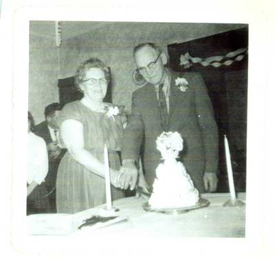 Lew and Mabel Hern's 40th Wedding Anniversary, 1963