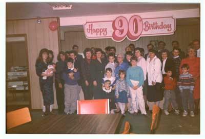 90th Birthday Celebration of Mrs. Eva Tremblay, circa 1990