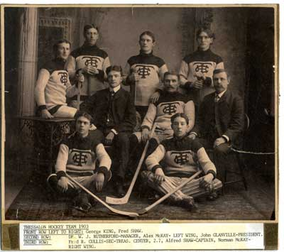 Thessalon Men's Hockey Team, Northern Ontario Champs,  1904
