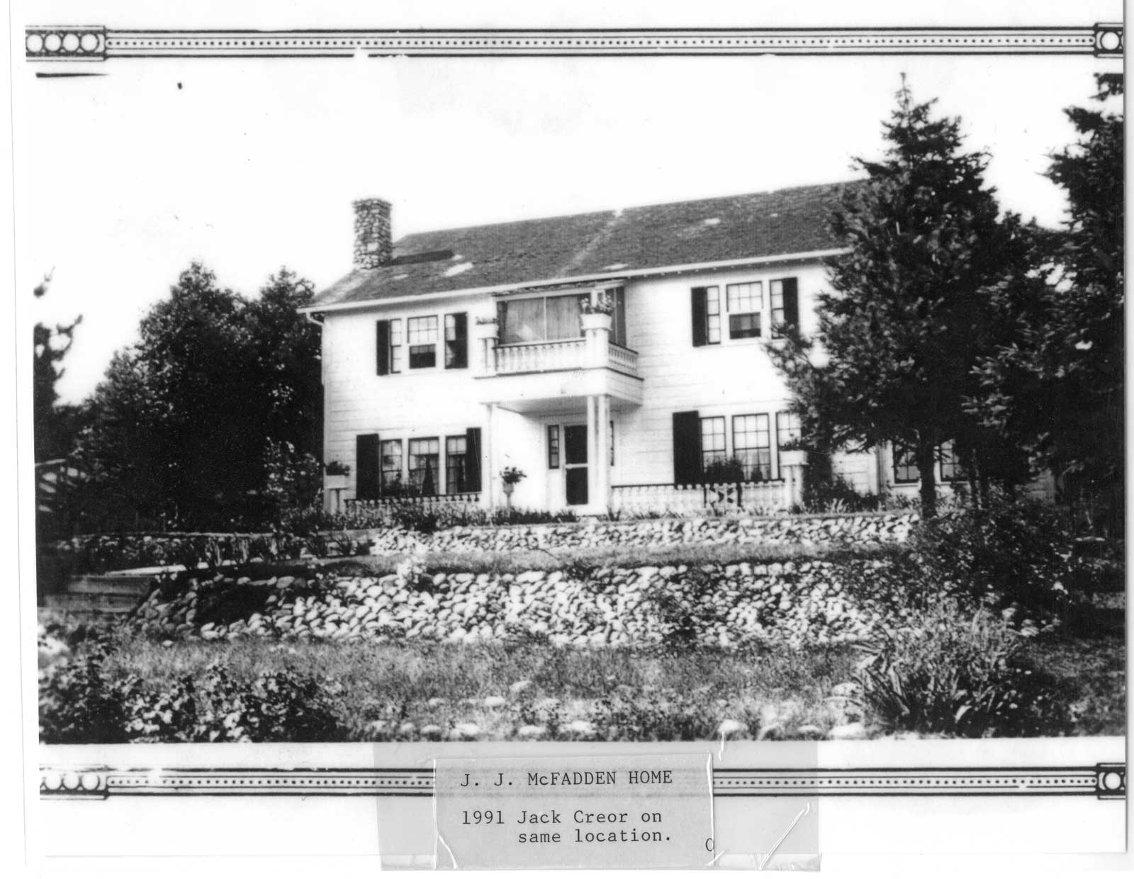 J. J. McFadden Home, Thessalon, circa 1950