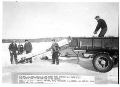Ice Cutting, Thessalon, Winter 1963