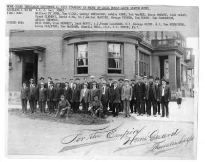 The Home Guard, Thessalon Sept 6, 1915