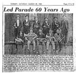 "Newspaper clipping, ""Led Parade 60 years ago"", Thessalon"