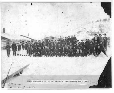 Letts Bush Camp, Thessalon, Ontario, circa 1900