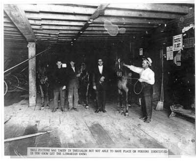 Horse Barn and Sulky Racing Equipment, Thessalon, circa 1900
