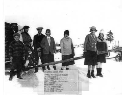 Outdoor Group Photo, Thessalon, 1923