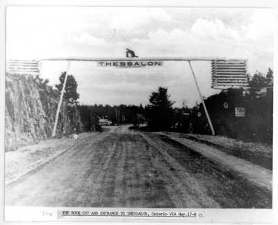 Highway entrance to Thessalon, circa 1920