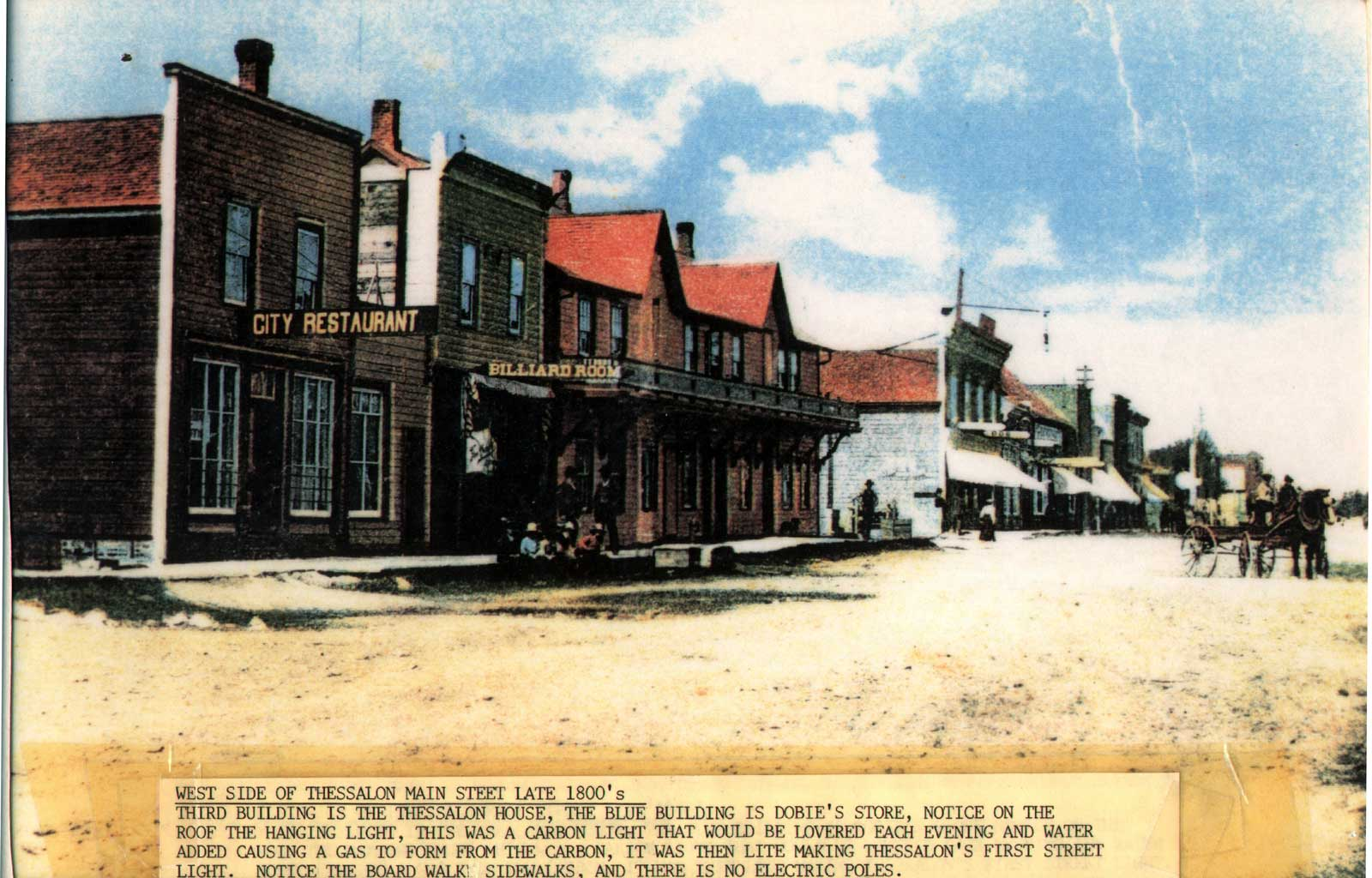 West Side of the Thessalon Main Street, circa 1890: A Historical