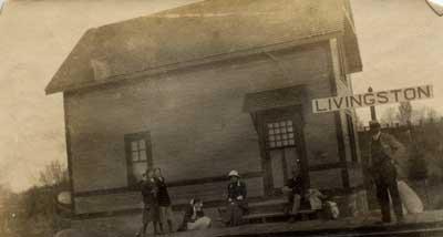 Railroad Station, Livingston, circa 1930