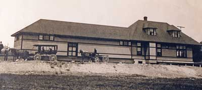 Thessalon Train Station, circa 1920