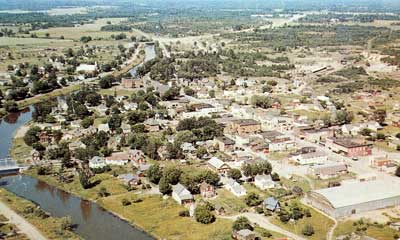 Aerial Shot of Thessalon, circa 1950