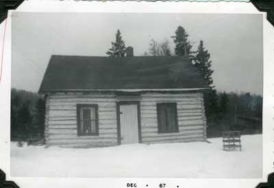Log House on Ansonia Road, Thessalon, 1967