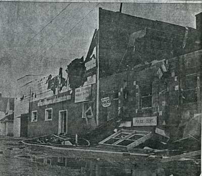 Main St Fire, Town Hall, Thessalon, 1963