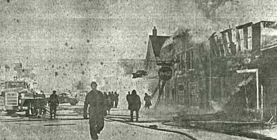 Main St Ansara Block Fire, Thessalon, 1963