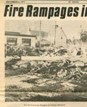 Main Street Fire, Thessalon, 1977