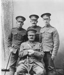 Group of Four Soldiers in Uniform, circa 1914