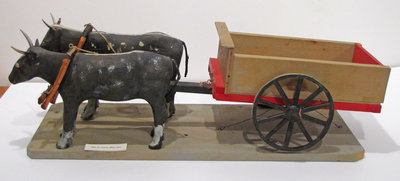 Hand Carved Reproduction of 1890's Ox Driver Beer Cart (Created by Joe Briere)