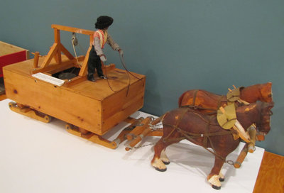 Hand Carved Reproduction of Road Icing Machine (Created by Joe Briere)