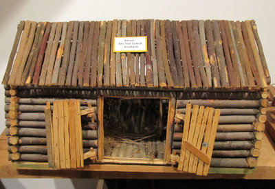 Hand Crafted Replica of Logging Camp Horse Stable (Created by Joe Briere)