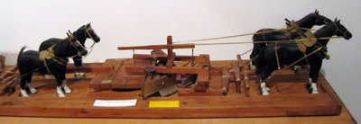 Hand Crafted Replica of Horse Drawn V Plough (Created by Joe Briere)