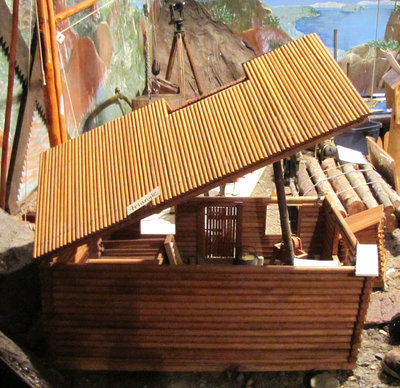 Hand Made Replica of Logging Camp Camboose (Created by Joe Briere)